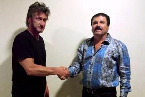 """El actor Sean Penn entrevisto al """"Chapo"""" para la revista Rolling Stones."""