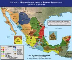 El territorio mexicano está parcelado entre los carteles del narcotráfico.