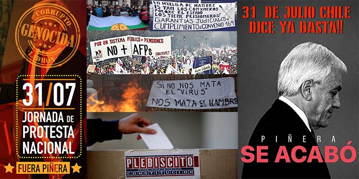 Afiches y movilizaciones por la Cuenta Pública