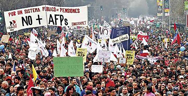 Fotografía de movilización No + AFP