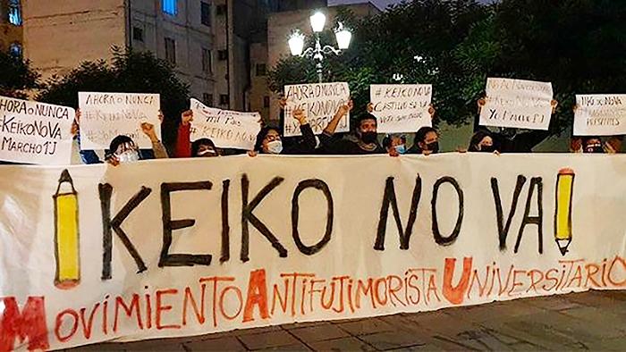 Manifestación contra Keiko Fujimori