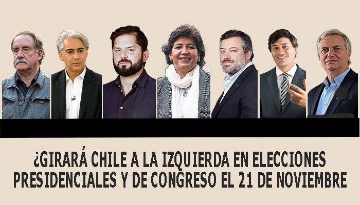 Fotografias de los siete candidatos a presidente de Chile en ls elecciones del 21 de noviembre